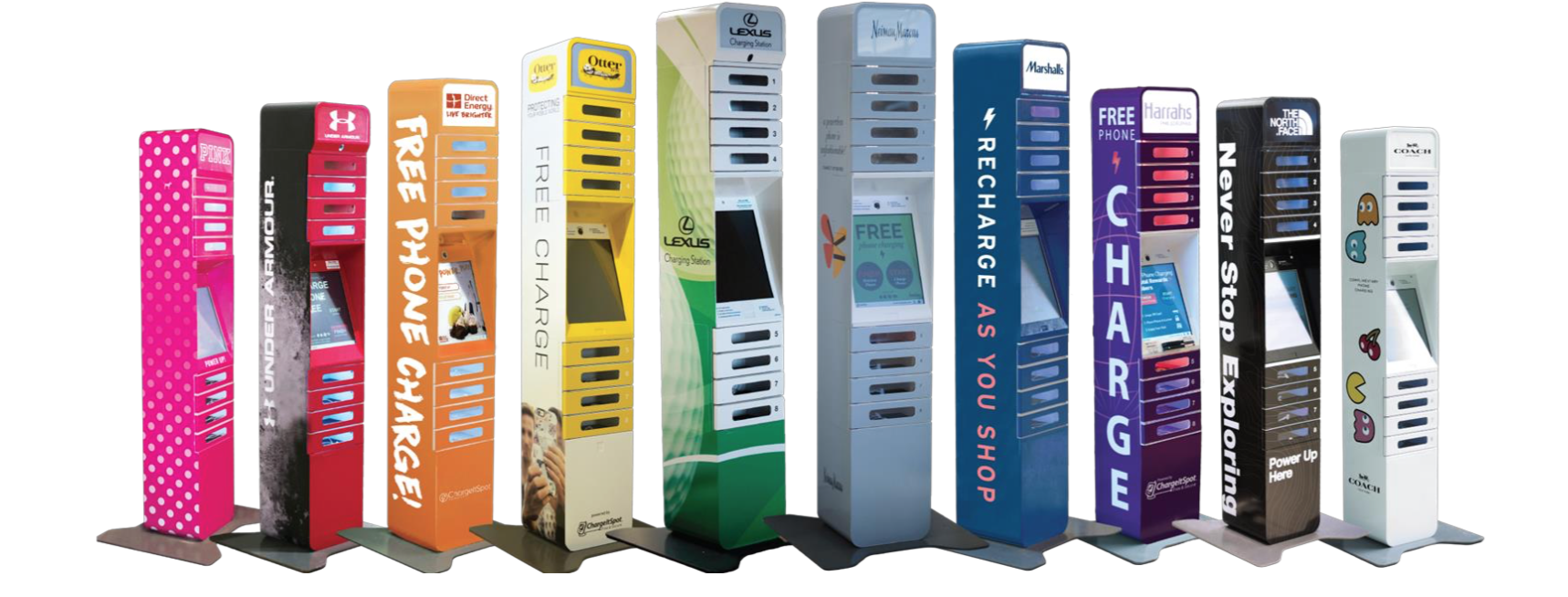 ChargeItSpot phone charging stations design